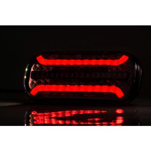 Fristom Universeel LED achterlicht met dynamisch knipperlicht    12-24v  