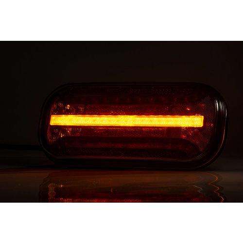 Fristom LED achterlicht met dynamisch knipperlicht & kentekenverlichting  | 12-24v | 5PIN