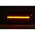 Fristom LED achterlicht met dynamisch knipperlicht & kentekenverlichting  | 12-24v |