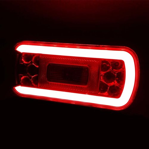 Fristom LED achterlicht met kentekenverlichting  | 12-36v | 100cm. kabel