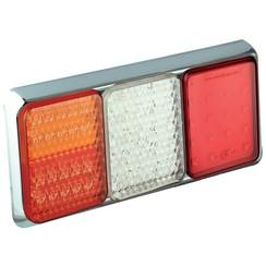 LED-Rücklicht mit Chromring | 12-24V | 40cm. Kabel