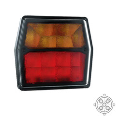 Compact LED rear light 12V 5 PINs bayonet