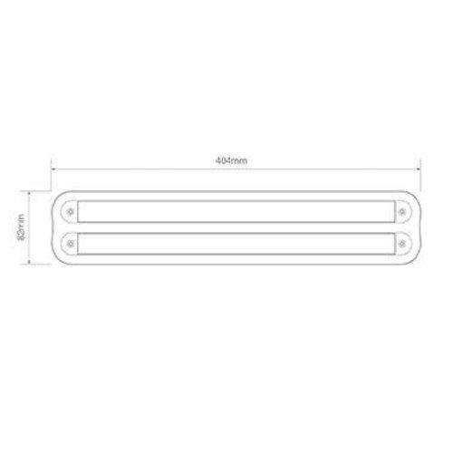 LED Autolamps  Dubbele opbouwrand zwart t.b.v. 380 serie