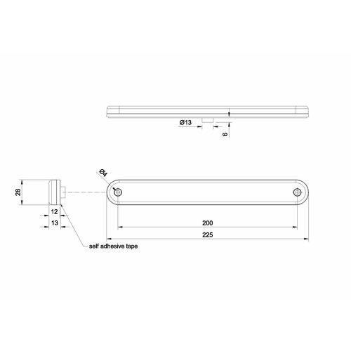 Fristom LED 3de remlicht  | 12-24v | 50cm.