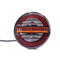 LED-Rücklicht, rund mit dyn. blinkt | 12-24V | 100cm. Kabel