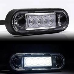 LED markeerverlichting Wit | 12-24v | 50cm. kabel