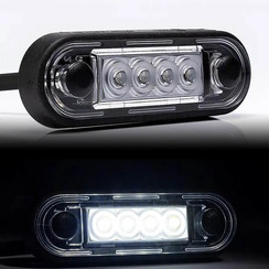 LED marker lights White | 12-24v | 50cm. cable