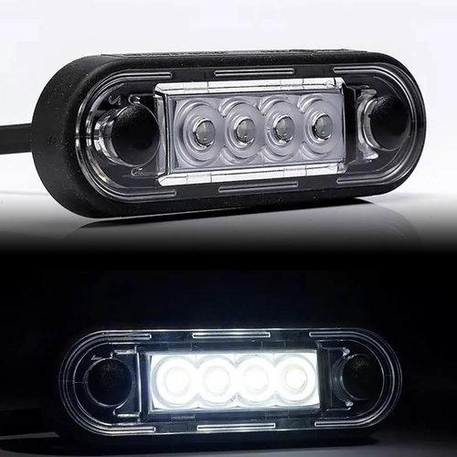 Fristom LED markeerverlichting Wit   12-24v   50cm. kabel