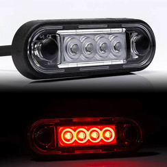 LED marker lights Red | 12-24v | 50cm. cable
