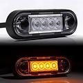 LED markeerverlichting Amber   12-24v   50cm. kabel