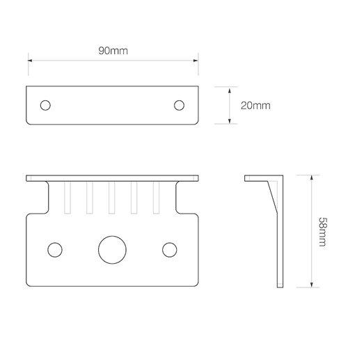 LED Autolamps  Horizontale montage beugel t.b.v. EU38 serie