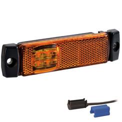 LED markeerverlichting amber  | 12-36v | 0,75mm² connector 1,5m.kabel