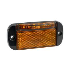 LED knipperlicht met markeringslicht cat.5  | 12-24v |  55cm. kabel