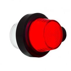 LED Zweedse breedtelamp, korte steel & matte lens,  | 12-24v |