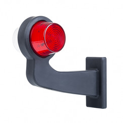 LED-Pendelleuchte links, Winkelstahl und Klarglas, | 12-24V |