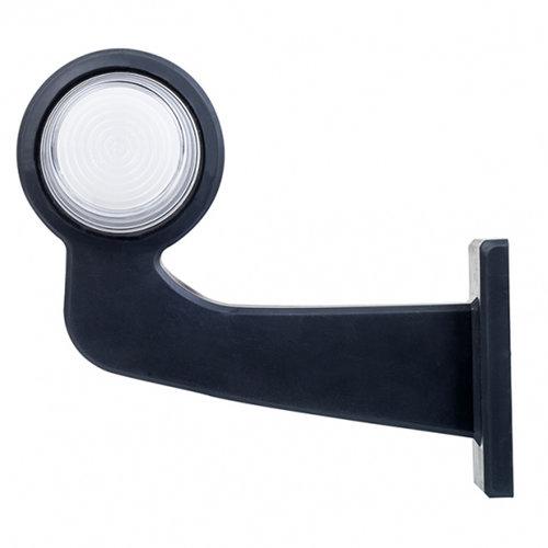 LED pendellamp rechts, haakse steel & matte lens  | 12-24v |