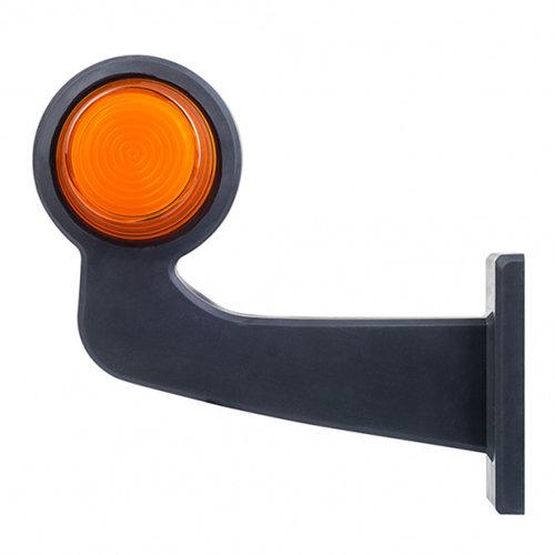 TRALERT® LED pendellamp rechts, haakse steel & matte lens,  | 12-24v |