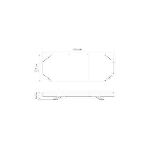 LED R65 zwaailampbalk 744mm  | 12-24v |