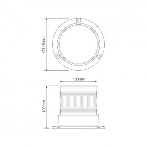R10 LED PC Flits/zwaailamp groen   10-30v  
