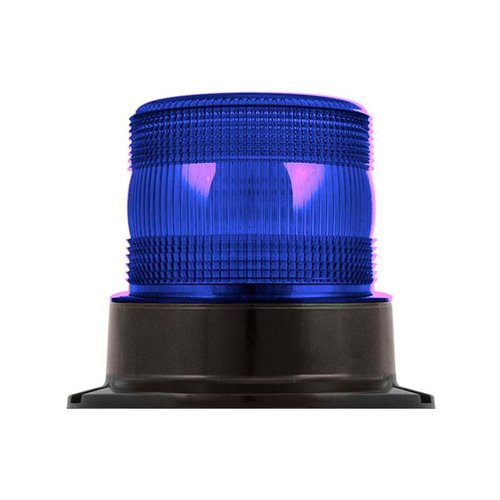 R10 LED PC Flits/zwaailamp blauw   10-30v  