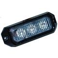LED Flitser 3 LED uitvoering Amber  | 12-24v |