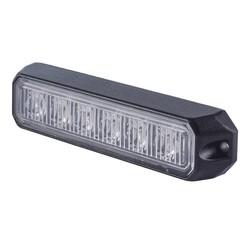 LED Flitser 6 LED uitvoering Amber  | 12-24v |