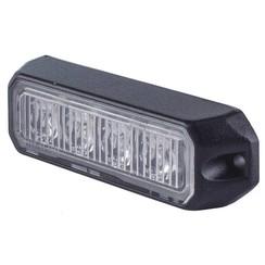LED Flitser 4 LED uitvoering Amber  | 12-24v |