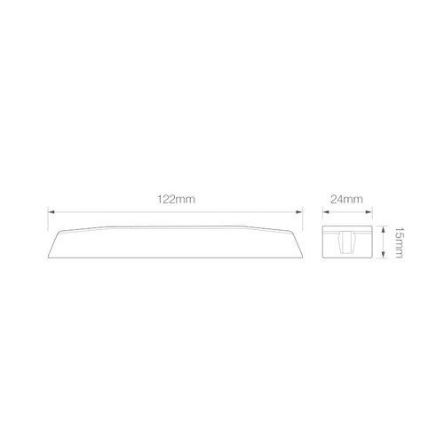 ElectraQuip  R65 Slimline LED Flitser 6 LED's Amber   10-30v  
