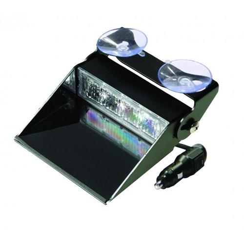 Blauwe dashboard flitser 4 LED's Blauw | 10-30v |