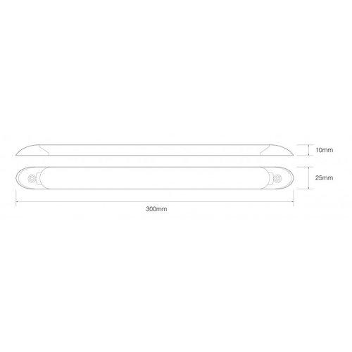 LED interieurverlichting   incl. schakelaar   30cm.   wit   24v.   koud wit
