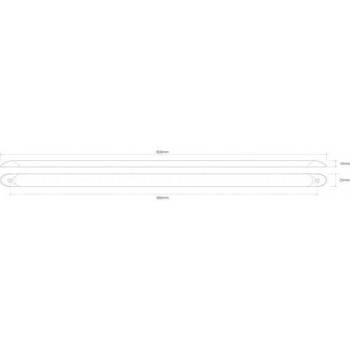 LED interieurverlichting incl. schakelaar | wit | 24v. | koud wit