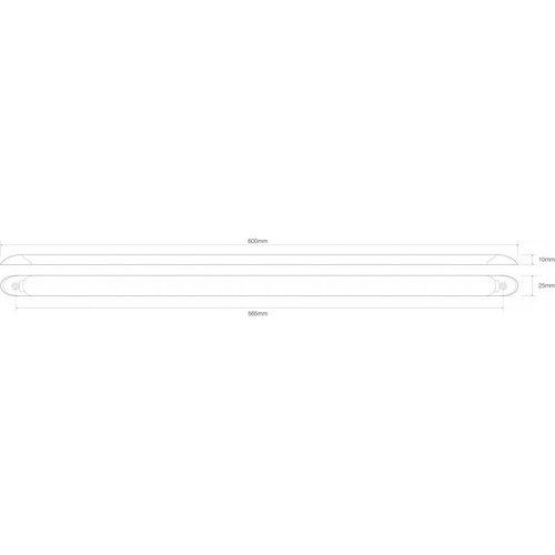 LED Autolamps  LED interieurverlichting | excl. schakelaar | 60cm. kabel | wit | 12v. | koud wit