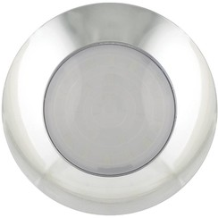 LED interieurverlichting | chroom/melkglas | 24v. | koud wit
