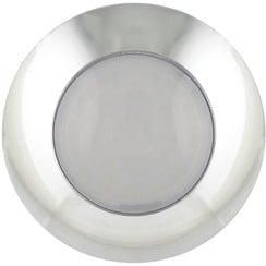 LED interior light | chrome / frosted glass | 24v. | cold white