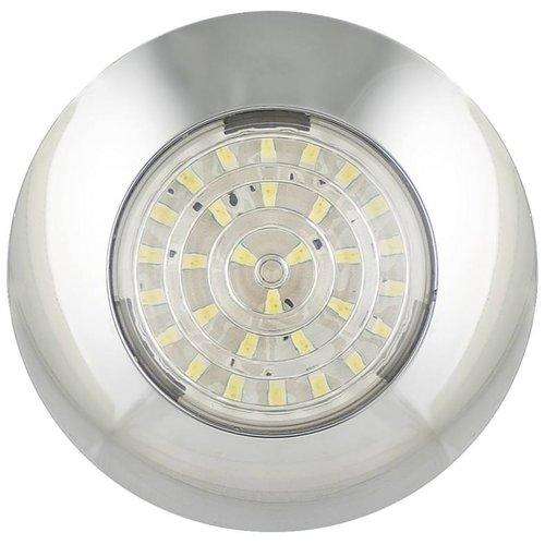LED interieurverlichting chroom  12v. koud wit licht