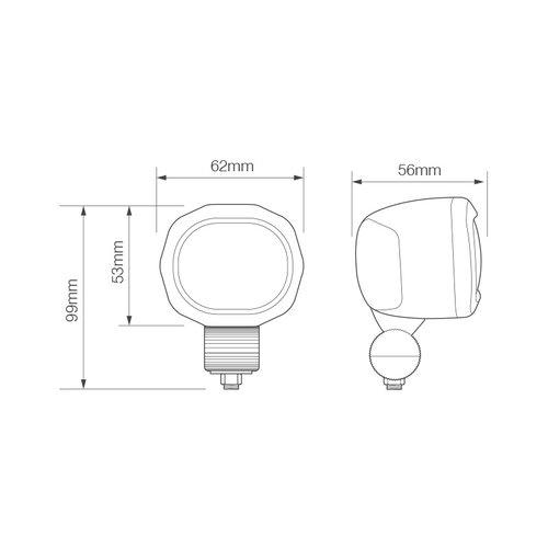 LED Autolamps  LED RED Line Werklamp | 6 watt | 10-80v