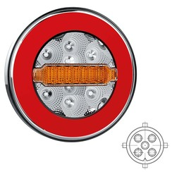 LED backlight Y homologation without license plate light | 12-36V | 5 pin