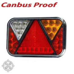 LED achterlicht rechts met geïntegreerde canbus-oplossing & achteruitrij- & kentekenverlichting 12v 5PIN