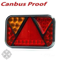 LED rear light left with canbus integrated solution and fog and license plate light 12V 5PIN