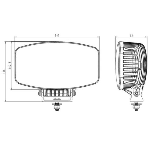 LED Verstraler chrome met dagrijverlichting 10.000lm 9-36 v