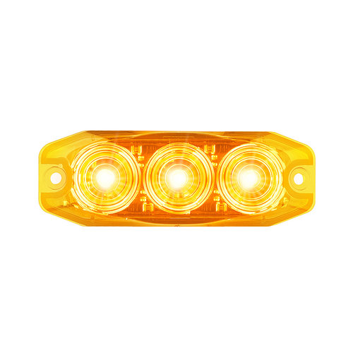 LED Compact knipperlicht 12/24v  (amber lens)