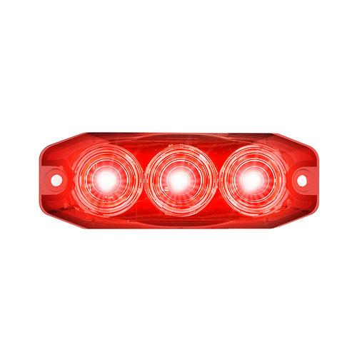 LED Compact mistlicht 12/24v (rode lens)