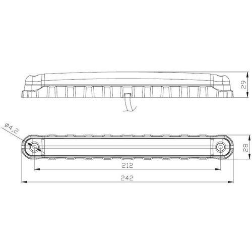 Fristom LED Interieurverlichtingsstrip 242mm, wit | 12-36v | Volt