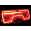 TRALERT® Links | LED Neon achterlicht | dynamisch knipperlicht | 12-24v | 5-PIN's Bajonet