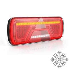 Links | LED Neon achterlicht | dynamisch knipperlicht | 12-24v | 5-PIN's Bajonet