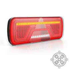 Left | Neon LED rear light | dynamic flashing | 12-24v | 200cm. cable - Copy - Copy
