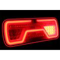 Rechts | LED Neon achterlicht | dynamisch knipperlicht | 12-24v | 8-PIN's Bajonet