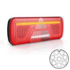 Links | LED Neon achterlicht | dynamisch knipperlicht | 12-24v | 8-PIN's Bajonet