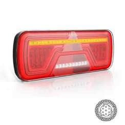 Rechts | LED Neon achterlicht | dynamisch knipperlicht | 12-24v | 7-PIN AMP