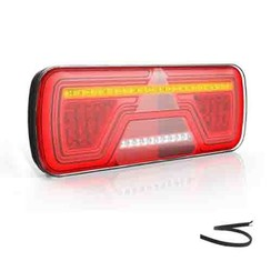 Left | Neon LED rear light | dynamic flashing | 12-24v | 200cm. cable